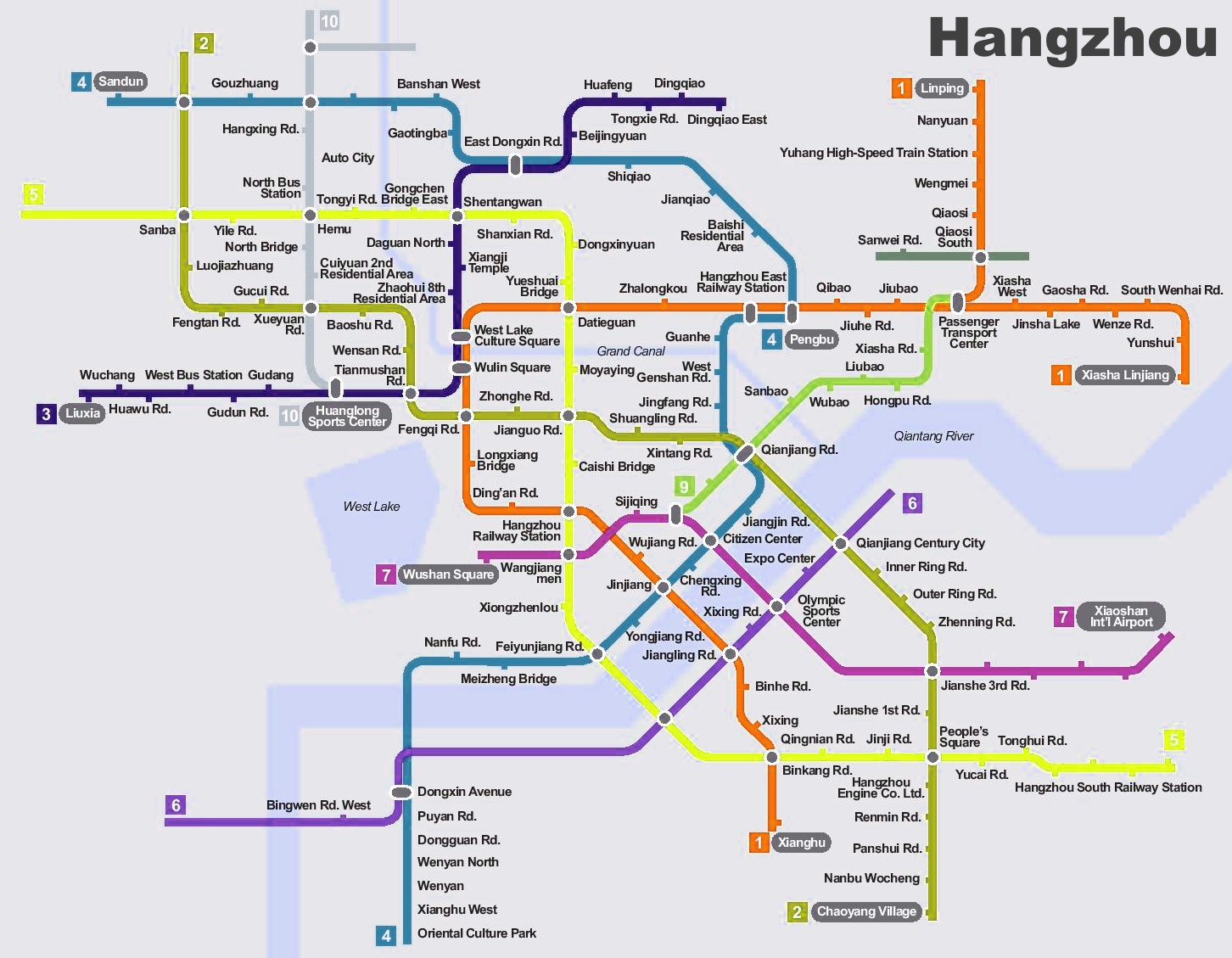Hangzhou subway planning map