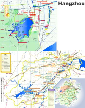 Hangzhou Maps China Maps of Hangzhou