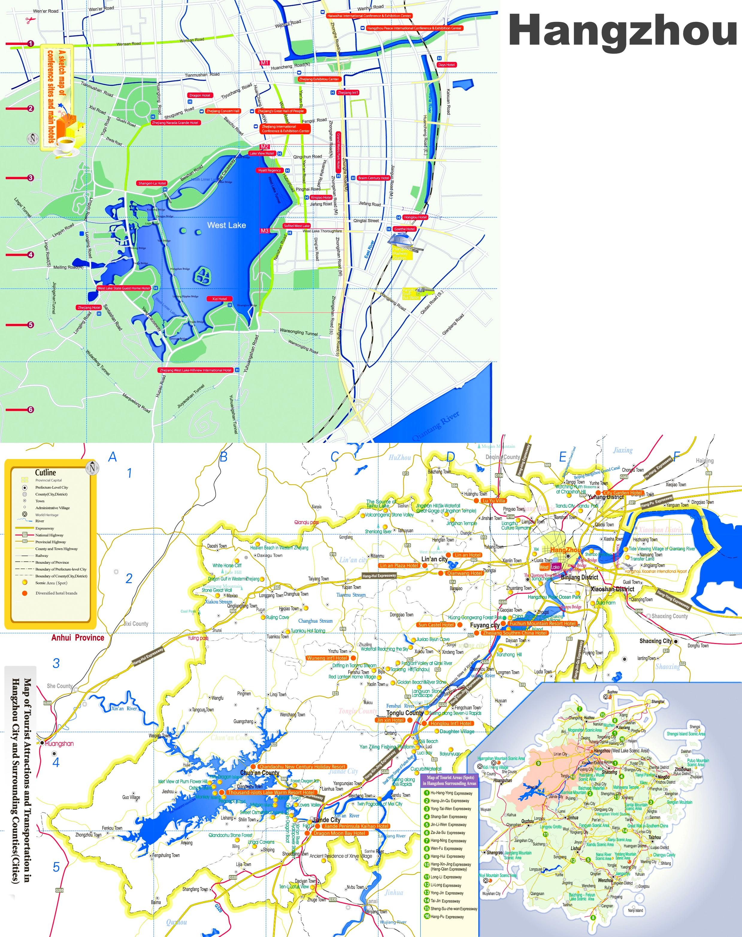 Hangzhou tourist map