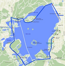 Hangzhou West Lake map