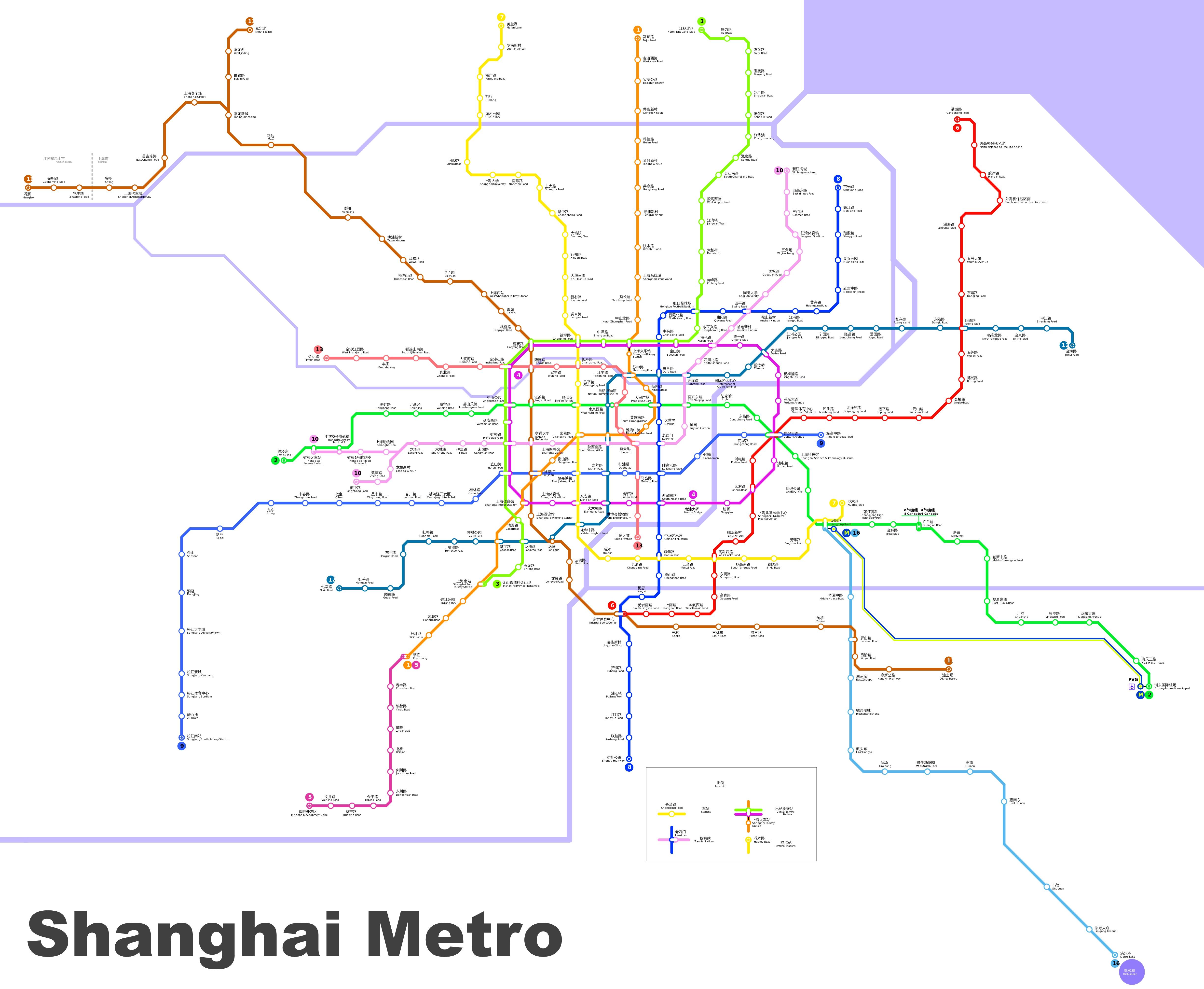 Printable Shanghai Subway Map.Shanghai Metro Map