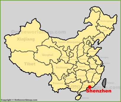 Shenzhen Location Map
