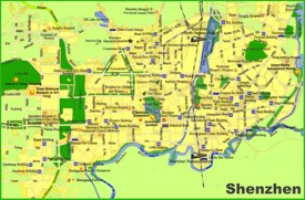 Shenzhen tourist map