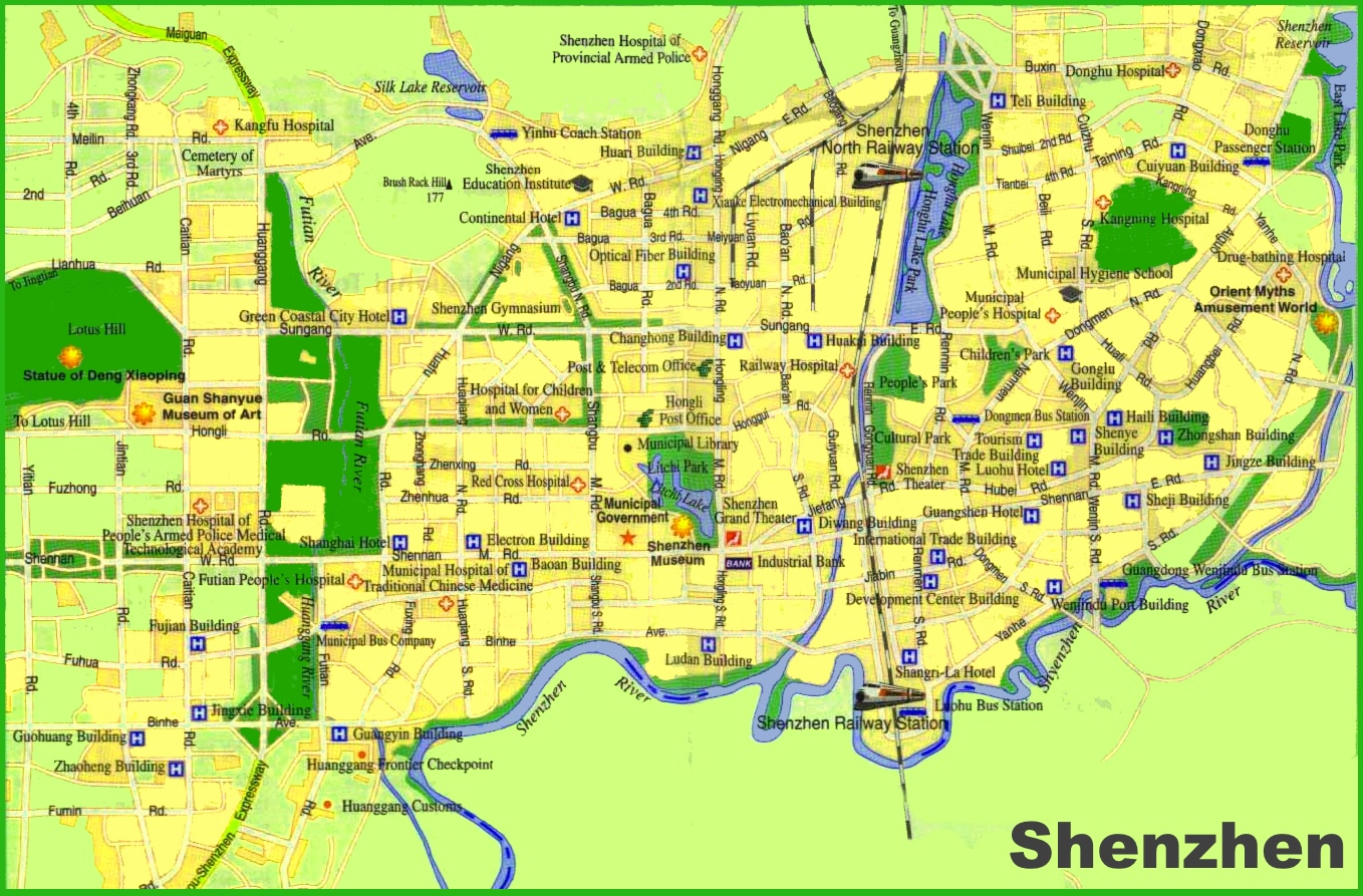 Shenzhen tourist map gumiabroncs Image collections