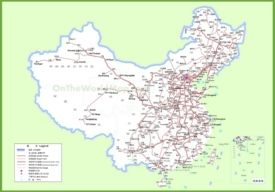 Railway map of China