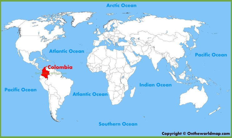 Colombia location on the World Map