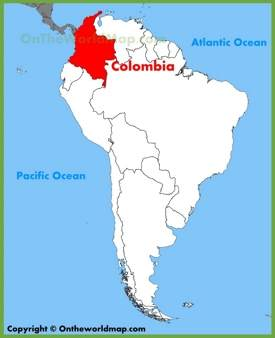 Colombia location on the South America map