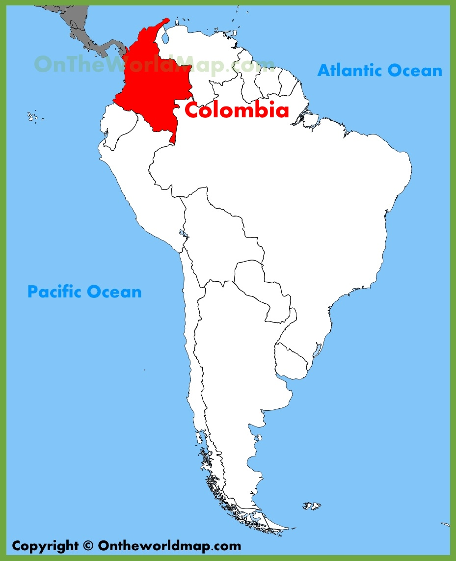 Colombia In South America Map Colombia location on the South America map