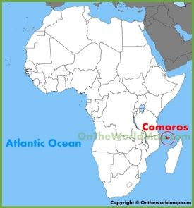 Comoros location on the Africa map