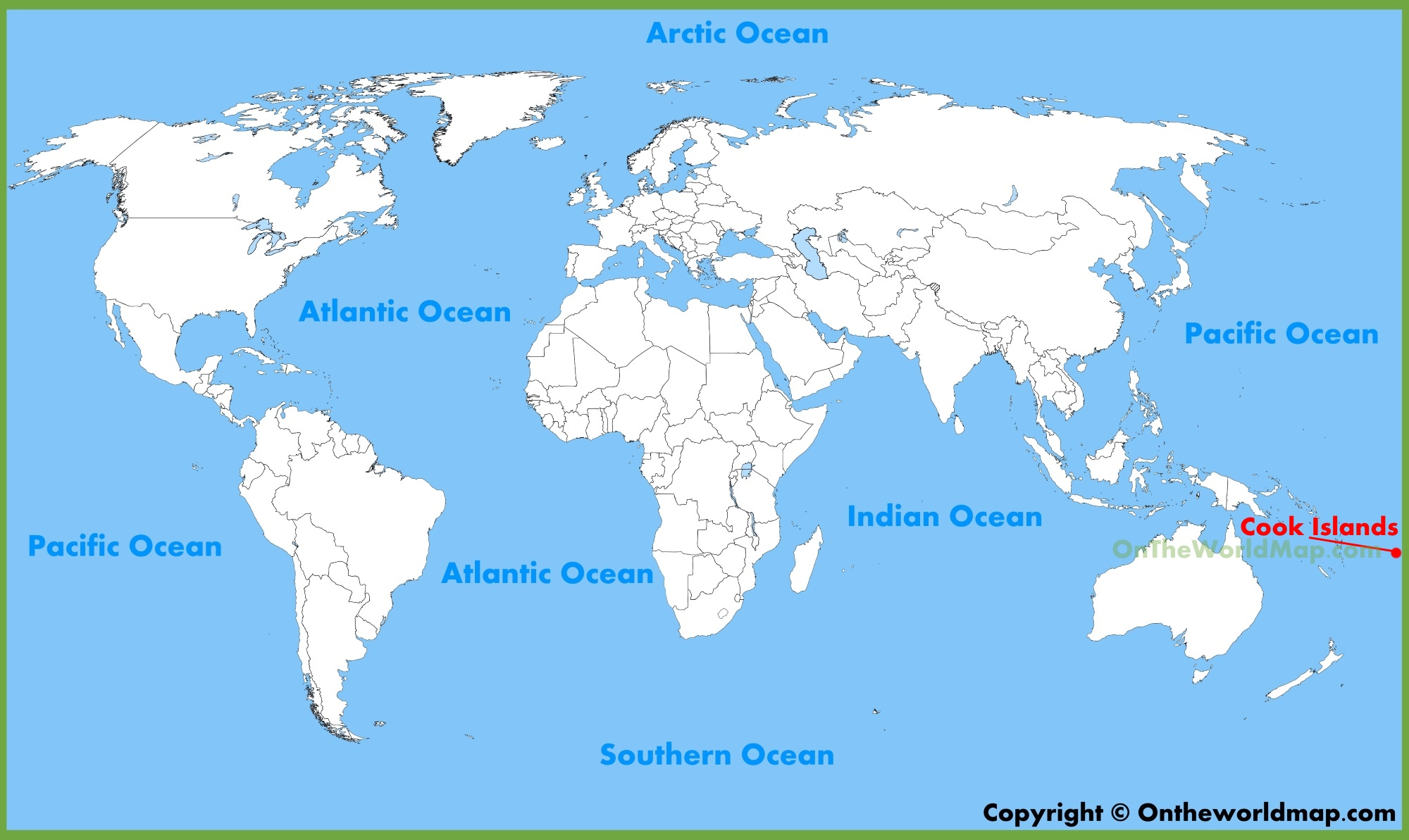 World Map Islands Cook Islands location on the World Map