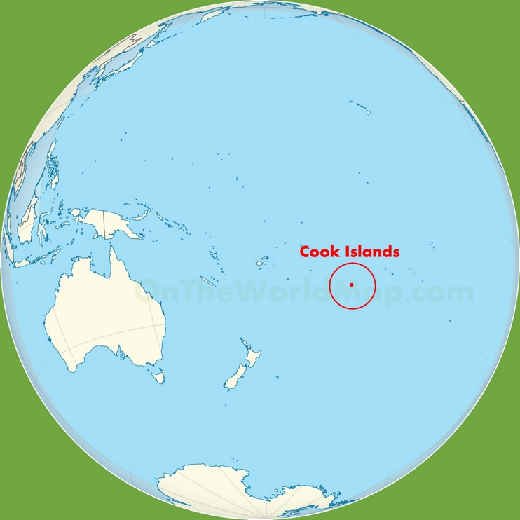Cook Islands location on the Polynesia map