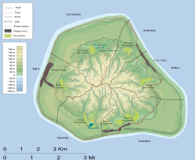 Mangaia map
