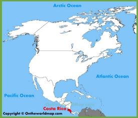 Costa Rica location on the North America map