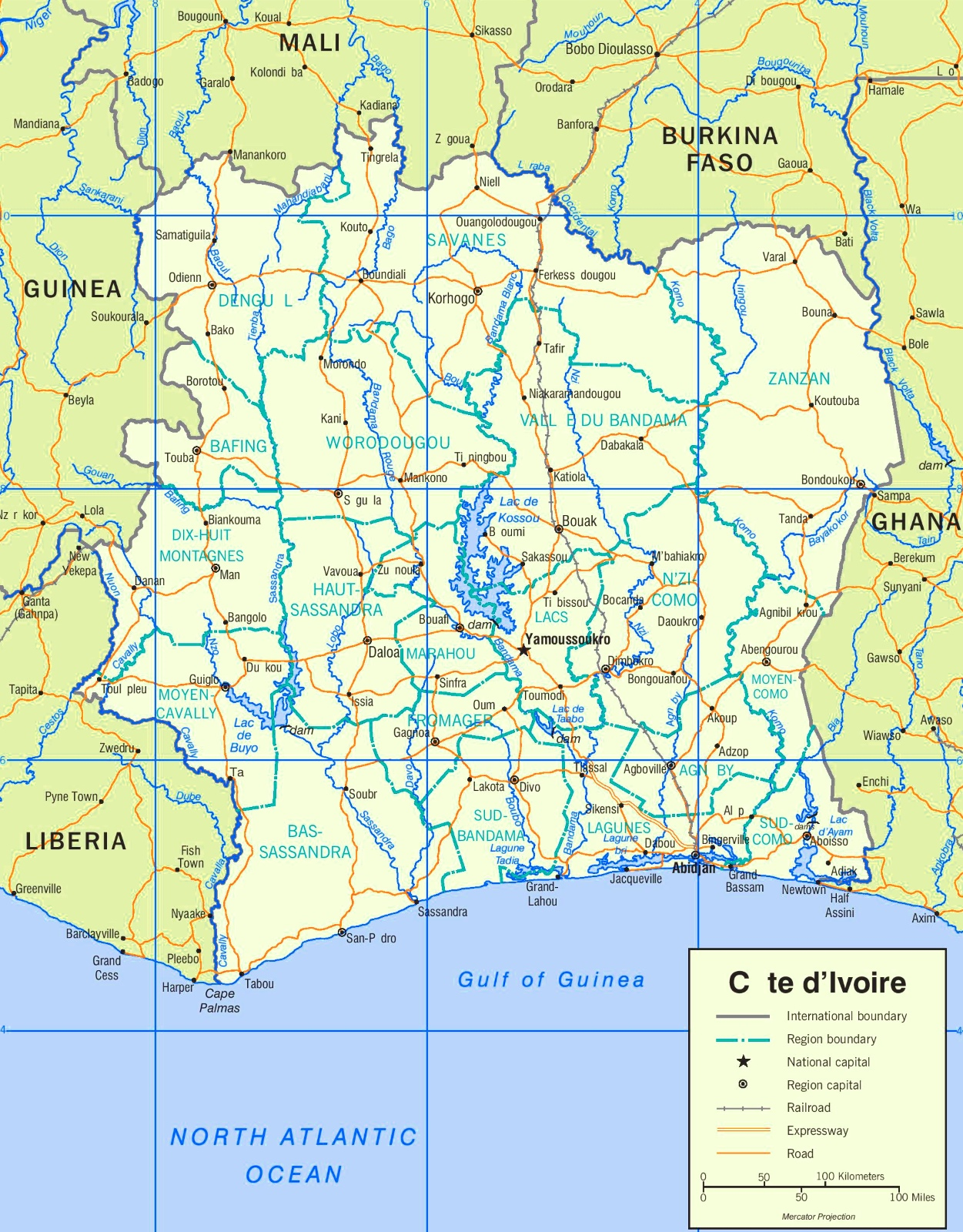Cte dIvoire road map