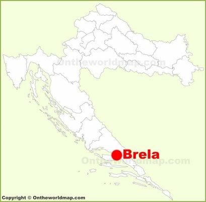 Brela Location Map