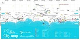 Brela tourist map