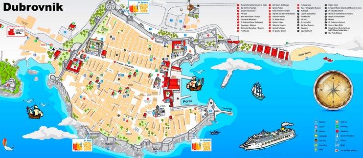 Dubrovnik tourist map