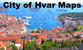 Hvar City maps