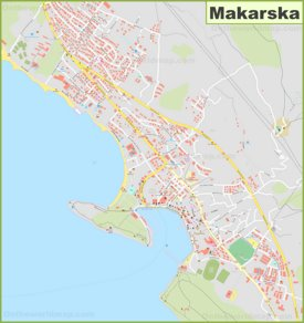 Large detailed map of Makarska