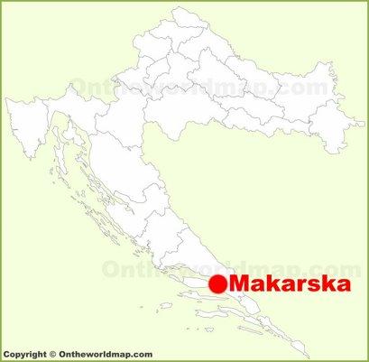 Makarska Location Map