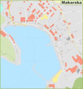Makarska old town map