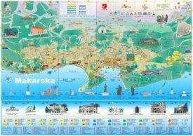 Makarska tourist map