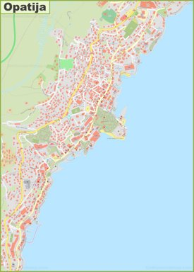 Large detailed map of Opatija