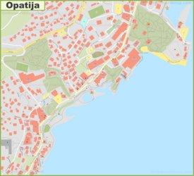 Opatija town center map