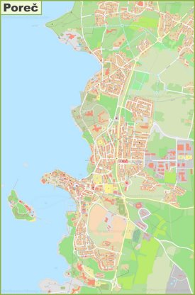 Large detailed map of Poreč