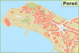 Poreč old town map