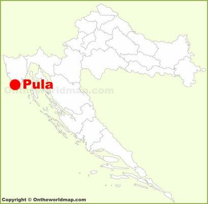 Pula Location Map