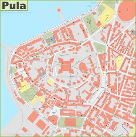 Pula old town map