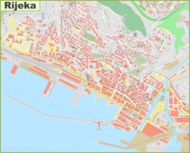 Large detailed map of Rijeka