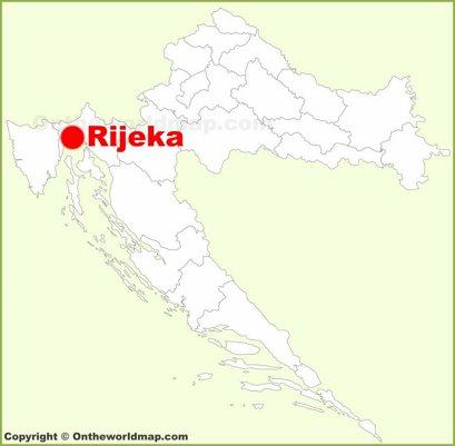 Rijeka Location Map