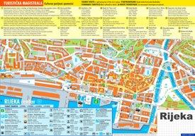 Rijeka tourist map