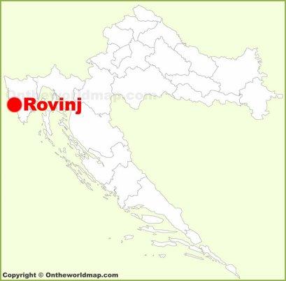 Rovinj Location Map