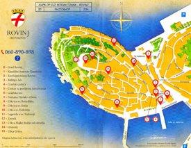 Rovinj tourist map