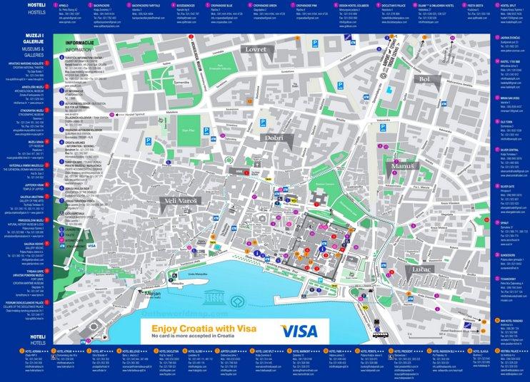 Split hotel map