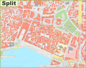 Split old town map