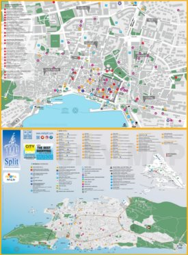 Split tourist map