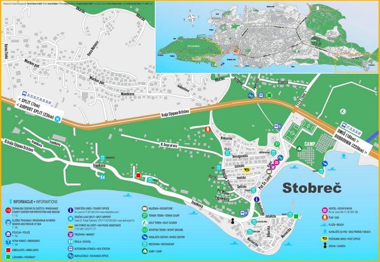 Stobreč tourist map