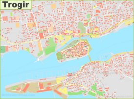 Large detailed map of Trogir
