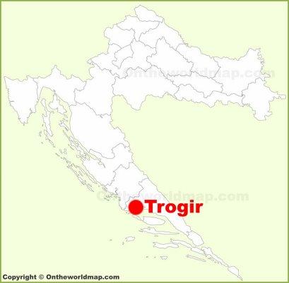 Trogir Location Map