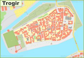 Trogir old town map
