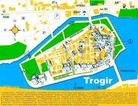 Trogir sightseeing map