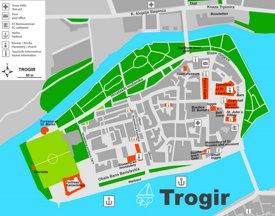 Trogir tourist map
