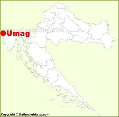 Umag Location Map