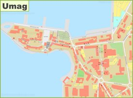 Umag old town map