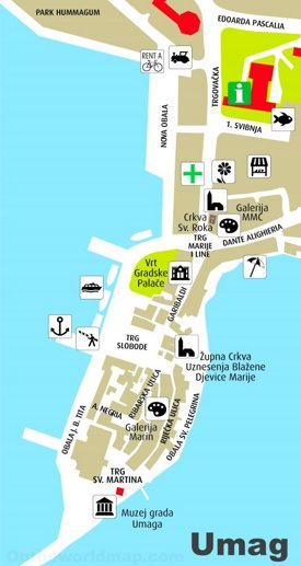 Umag tourist map