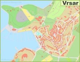 Large detailed map of Vrsar